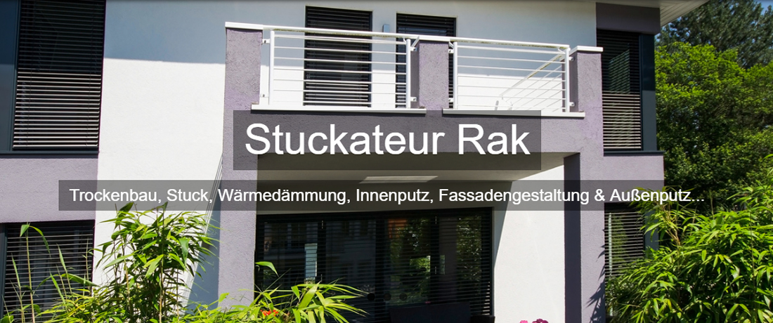 Trockenbau Güglingen - Stuckateur RAK: Malerbetrieb, Altbausanierung, Fassadengestaltung, Wärmedämmung, Innenputz, Außenputz